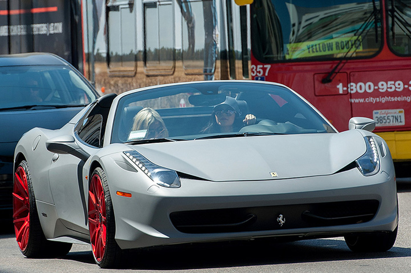 Kylie Jenner Tosses a Custom Paint Job on Her New Ferrari 458
