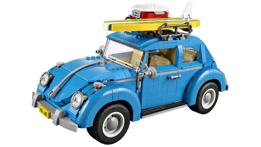 This LEGO VW Beetle is pretty darn neat