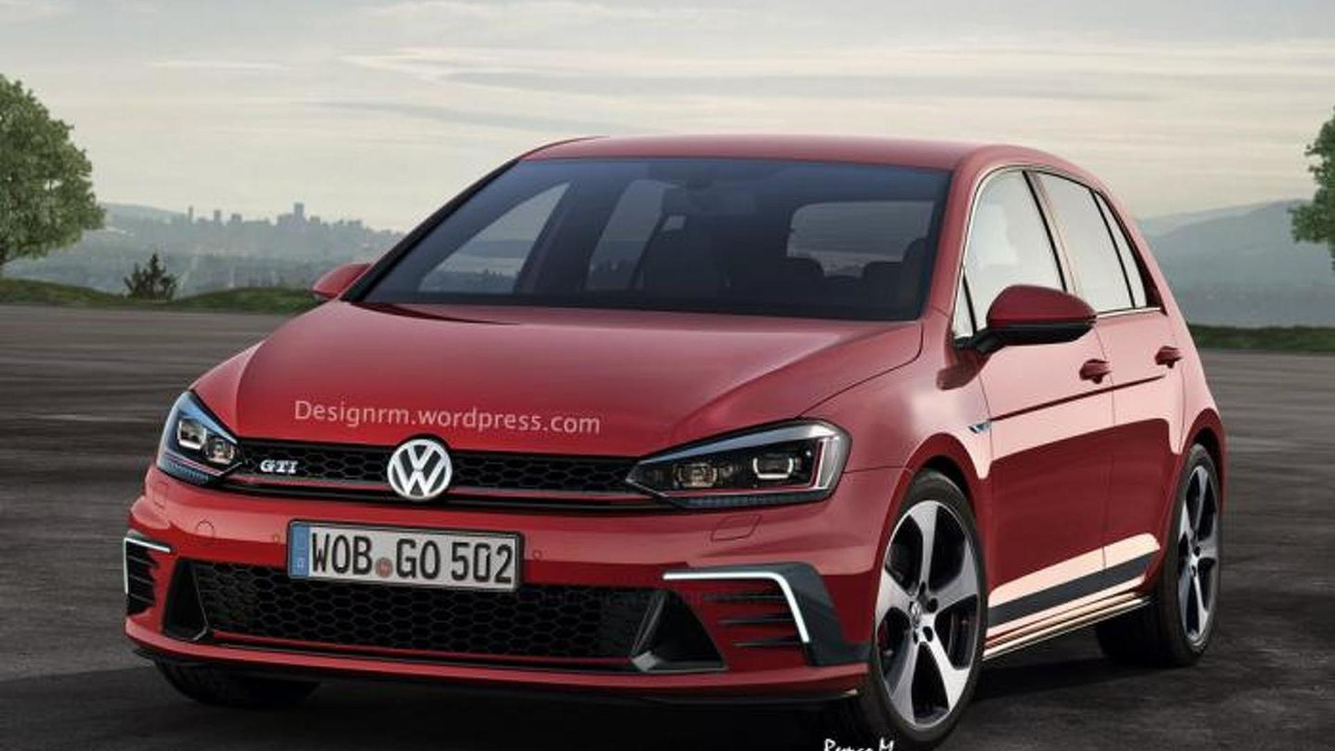 volkswagen golf and golf gti facelift rendered ahead of. Black Bedroom Furniture Sets. Home Design Ideas