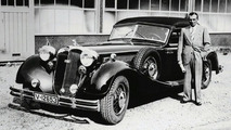 Achille Varzi with his Horch 853