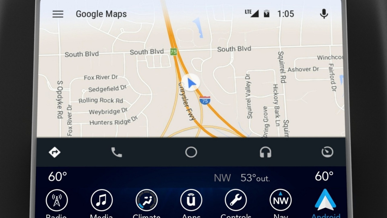FCA Uconnect infotainment system with Android Auto