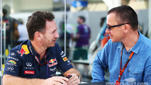 Christian Horner, Red Bull Racing Team Principal with Jonathan Noble, Motorsport.com Editor