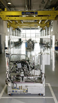 New Mercedes-Benz V-engine is prepared for the test bench 07.05.2010