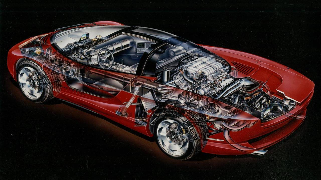 Mid-Engine Corvette Indy Cutaway Shows What Could've Been