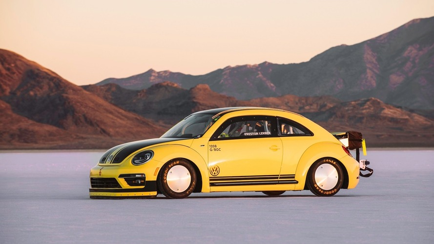 World's fastest VW Beetle hits 205 mph at Bonneville