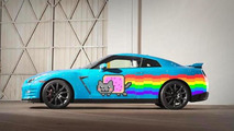 Nyan Cat-themed Nissan GT-R