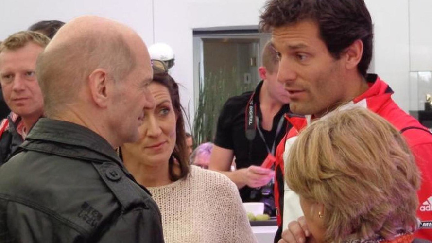 Newey with Webber at Silverstone, not in China