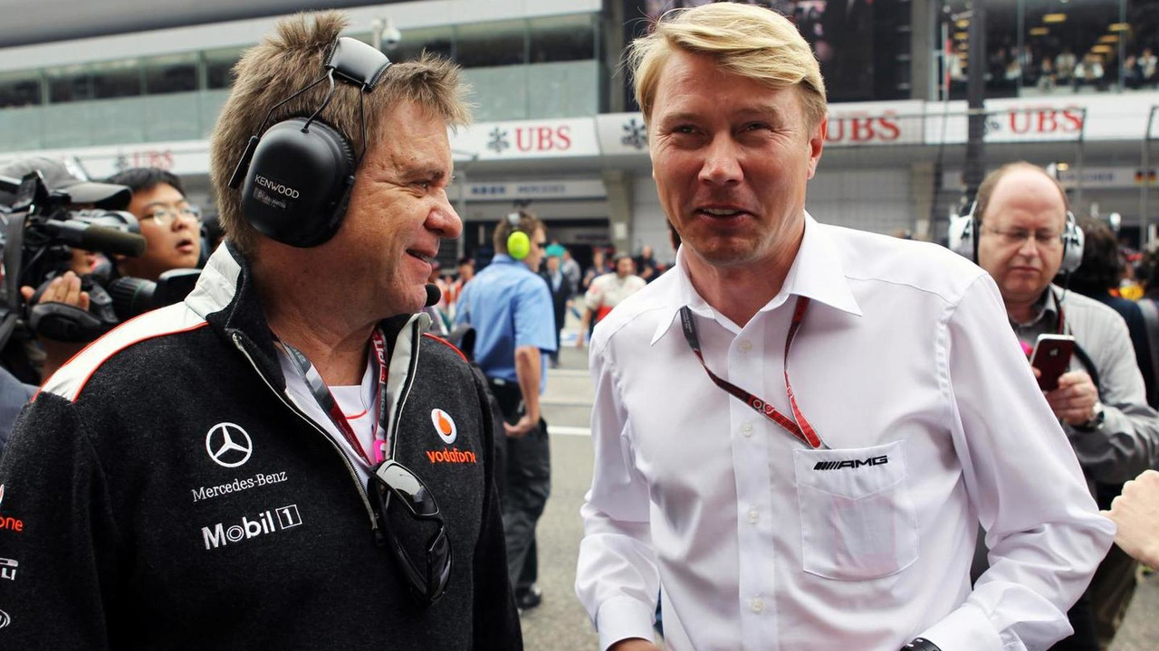 Dr. Aki Hintsa with Mika Hakkinen 15.04.2012 Chinese Grand Prix
