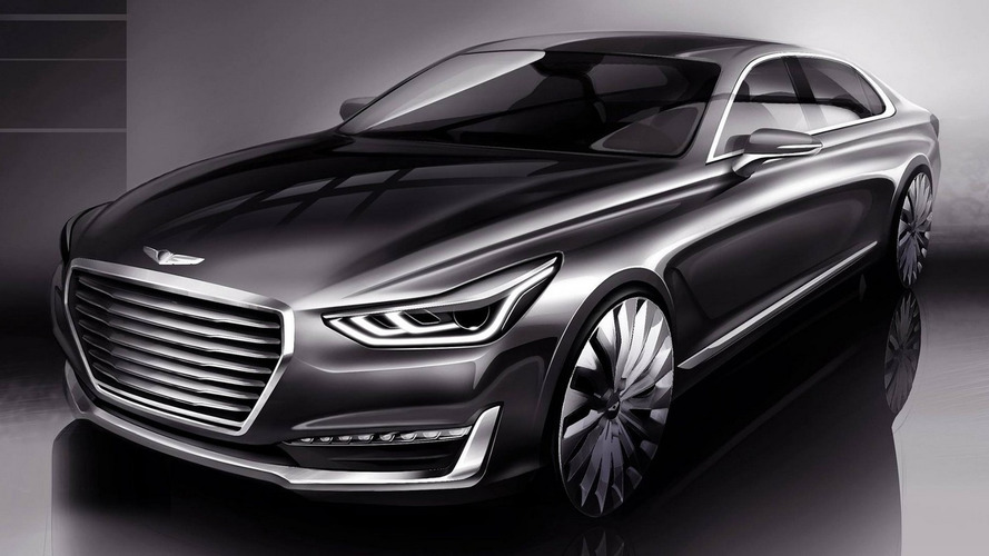 Hyundai teases upscale Genesis G90 flagship sedan, will replace the Equus