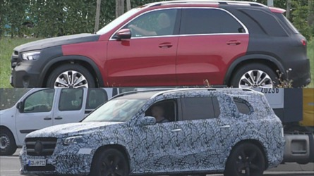 Mercedes Caught In Traffic Testing All-New GLE And GLS