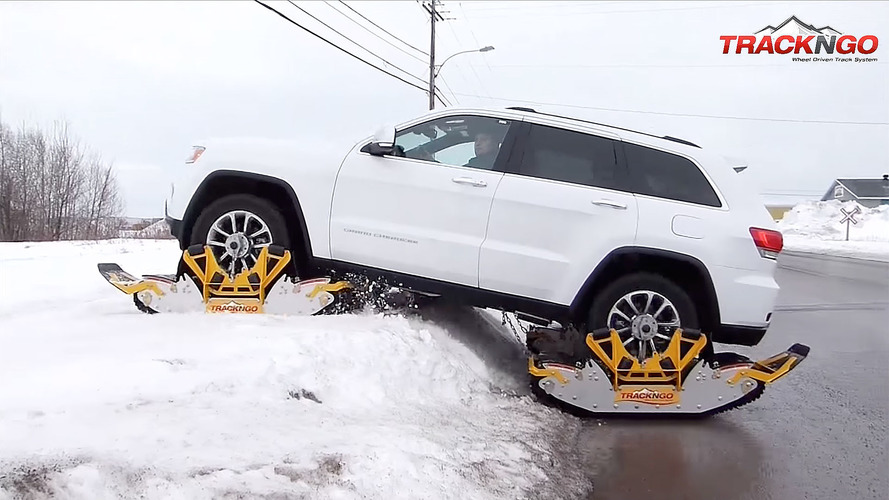 Bolt-on tracks turn Jeeps into snowmobiles in 15 minutes