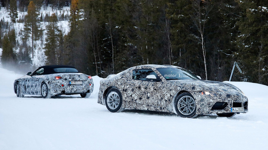 New Toyota Supra and BMW Z5 spied together