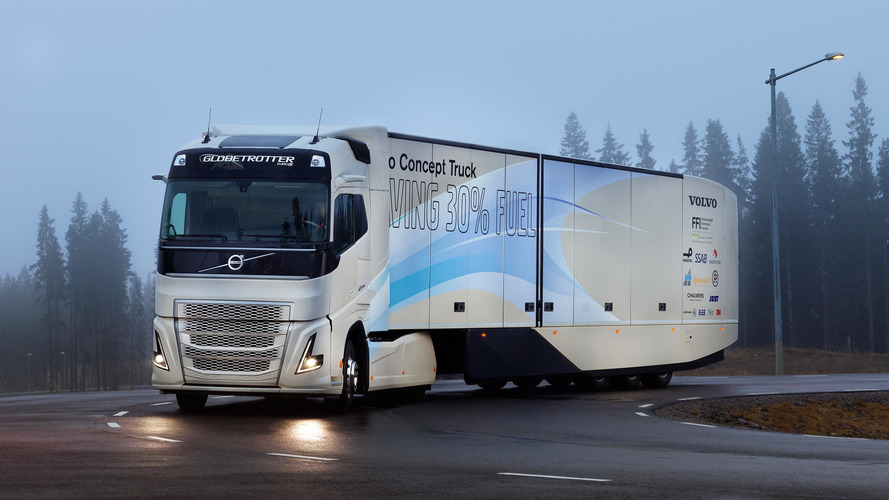 Volvo Concept Truck's gets 30 percent cleaner from new hybrid