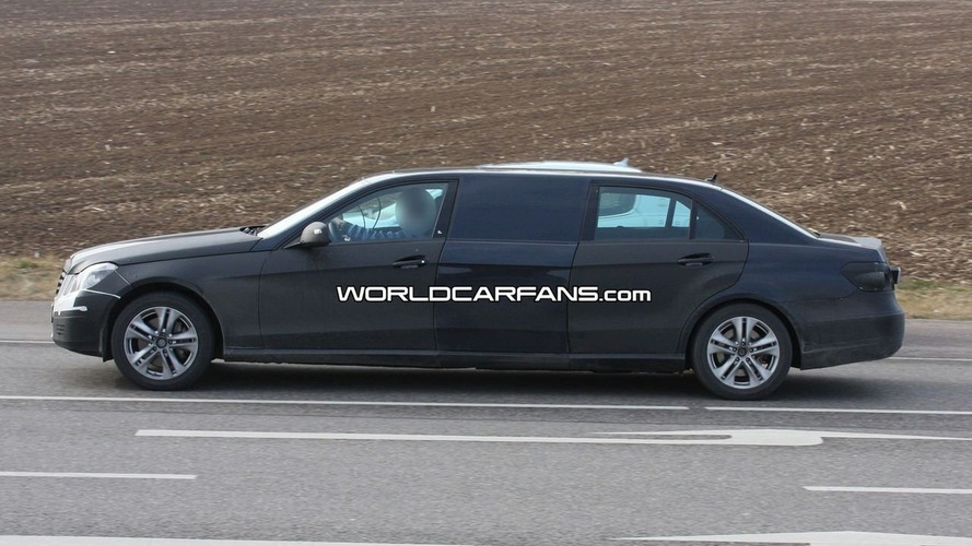 Mercedes E-Class Stretch Limo First Spy Photos