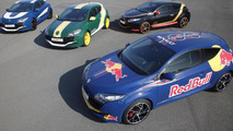 Renault Megane RS Formula 1 livery by Red Bull Racing, Lotus, Caterham and Williams 12.03.2012