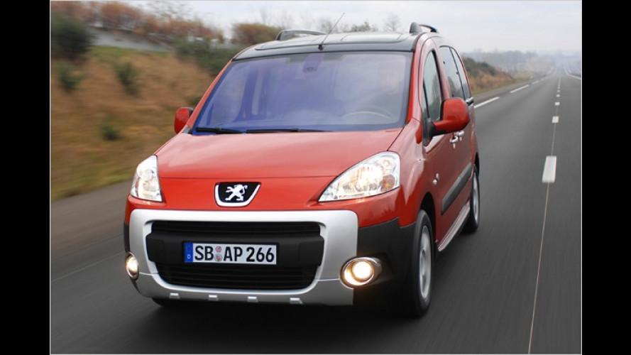 Spar-Vorteil: Peugeot Partner Tepee mit Familien-Paket