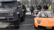 Lamborghini Murcielago LP670-4 SuperVeloce and Mercedes-Benz G63 AMG 6x6