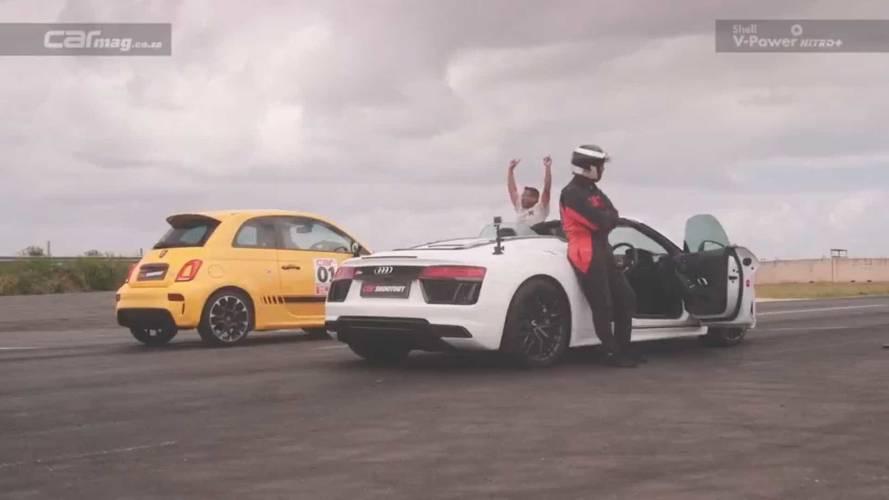 Audi R8 Spyder frente a Abarth 595 Competizione, ¿cuál de ellos vence?