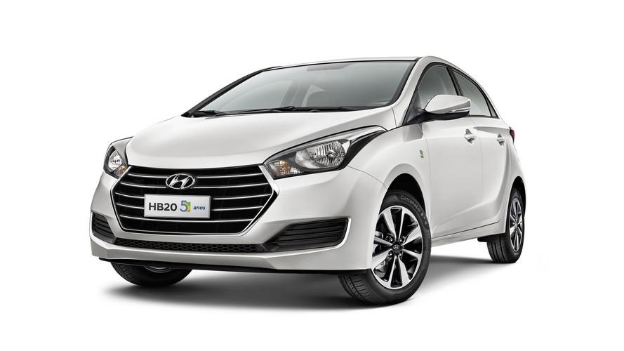 Hyundai convoca 3.109 unidades de HB20 e HB20S 1.0