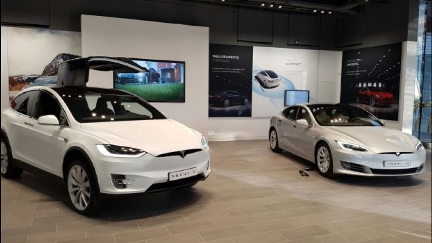 Tesla, inaugurato a Milano il nuovo flagship store