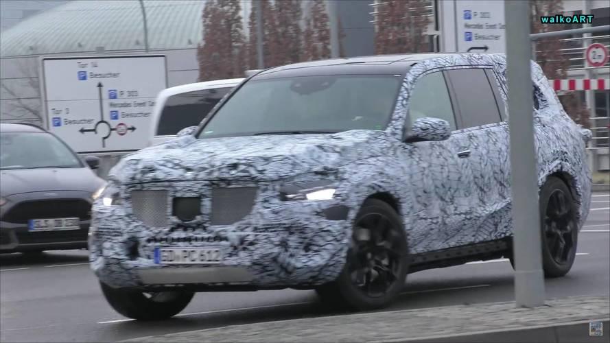 2019 Mercedes GLS and A-Class Sedan screenshots from spy videos