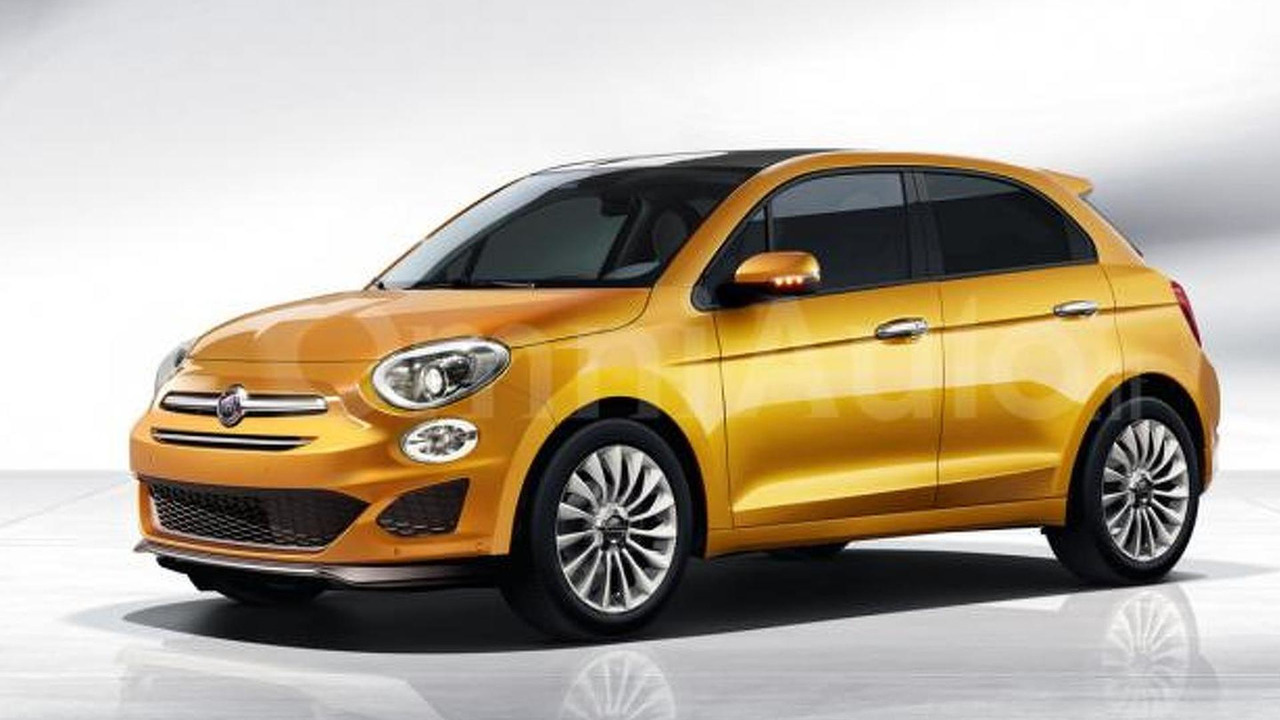Fiat 500 five-door hatchback render