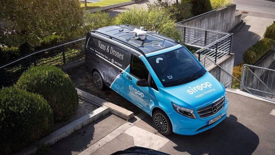 Mercedes et la livraison par drones