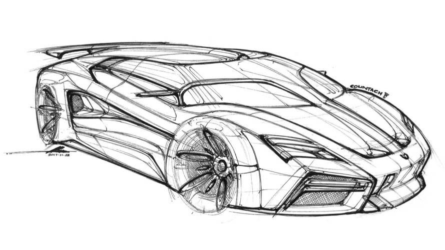 Lamborghini Countach Rendering