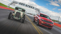 Jeep Grand Cherokee SRT Races Ford Model A Hemi Hot Rod