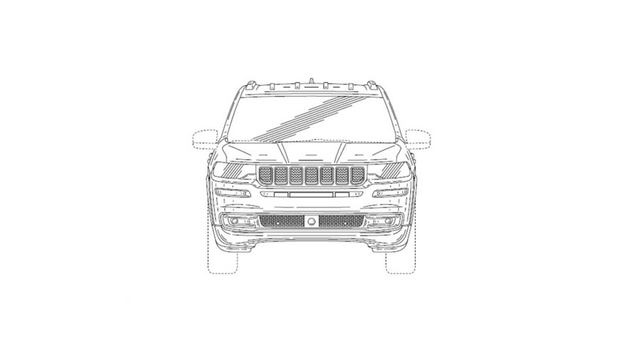 Jeep 7-Seat Patent Drawing
