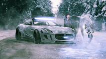 Arya Stark -  Jaguar F-Type Winter Edition
