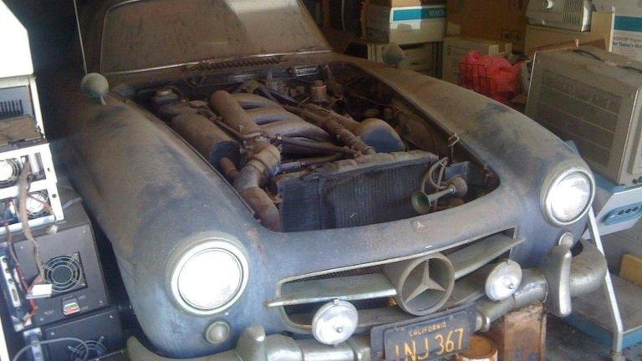 Alloy-body 1955 Mercedes-Benz 300 SL gullwing barn find, 768, 26.09.2011