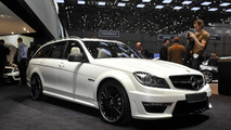 2012 Mercedes C63 AMG wagon live in Geneva - 01.03.2011
