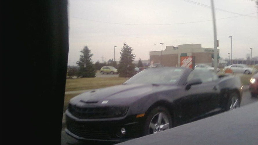 2012 Chevy Camaro Convertible Spied Top Down