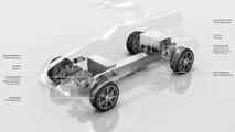 Mercedes SLS AMG Gullwing electric drive illustration