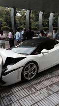 Crashed Lamborghini Gallardo Spyder