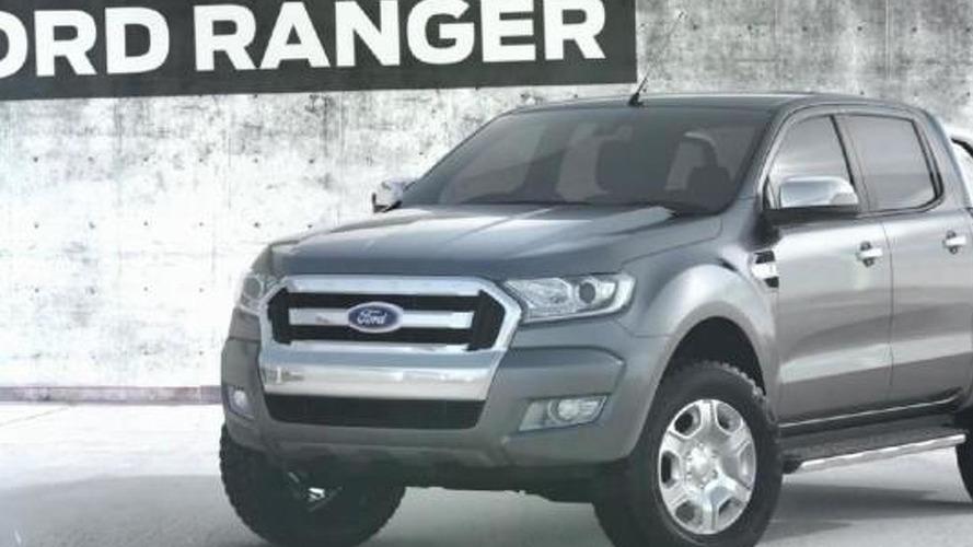 2015 Ford Ranger facelift partially revealed