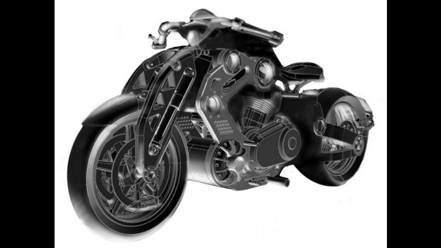 Confederate Motorcycles revela sketch da nova C2 P-51 Fighter