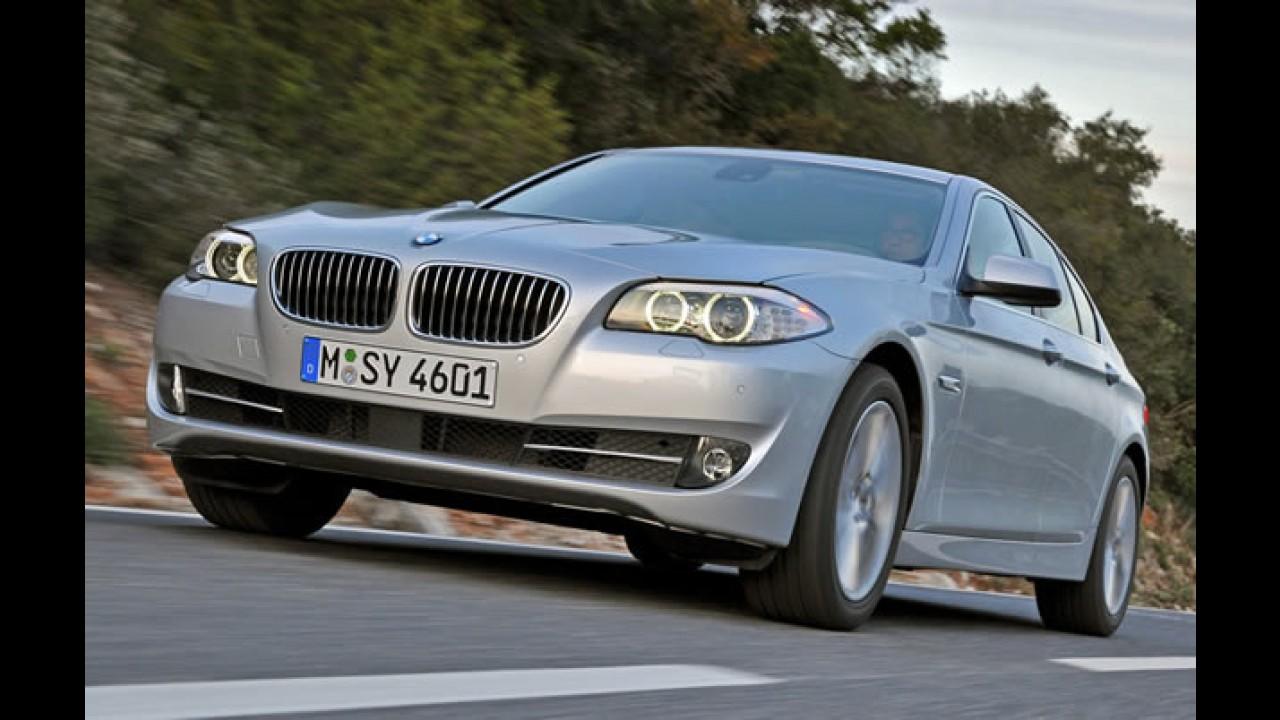 VÍDEO: Veja detalhes das novas BMW Série 5 Turbo 2011