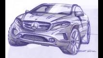 Frankfurt: Mercedes divulga esboços e confirma GLA para o evento