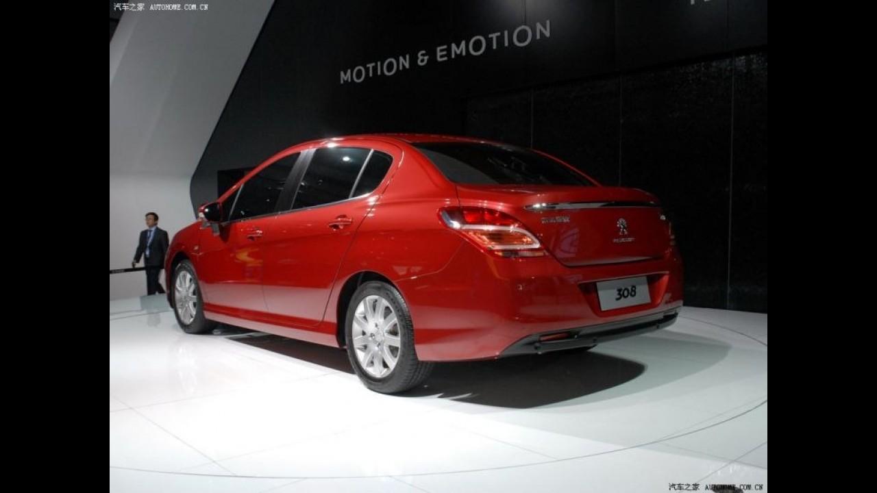 Peugeot 308 agora tem versão sedã exclusiva do mercado chinês
