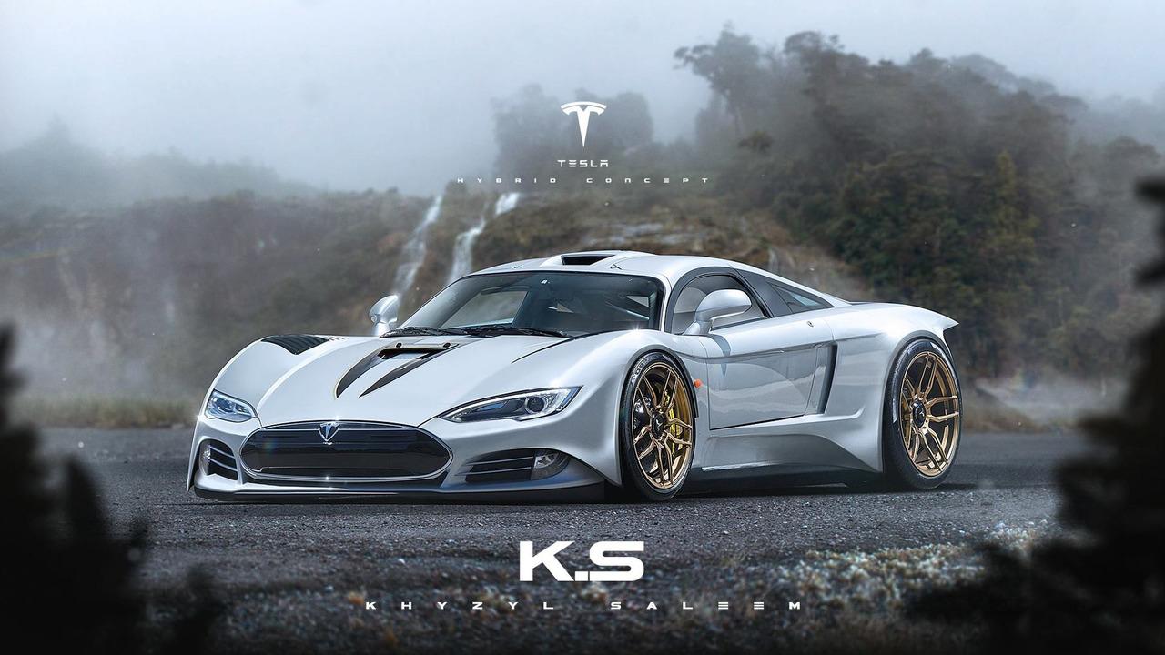 Tesla supercar rendering