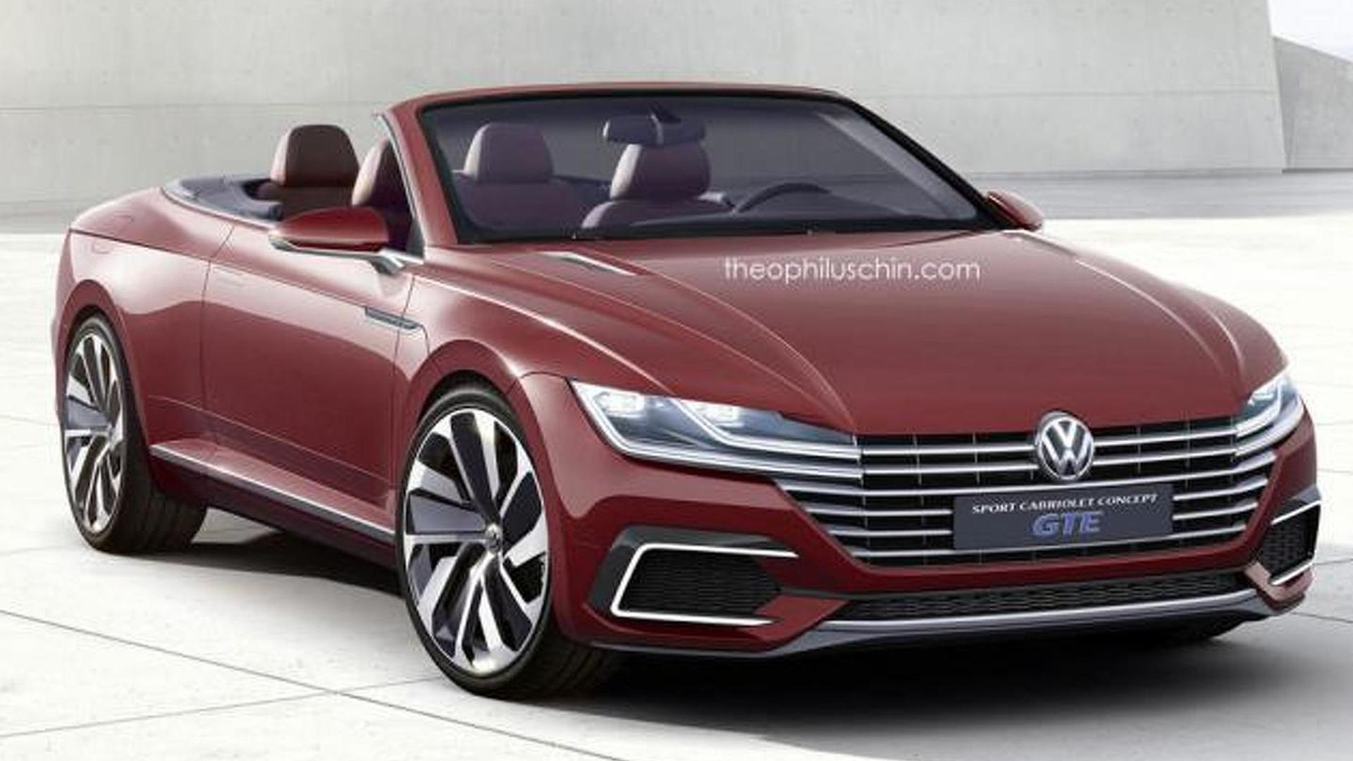 volkswagen eos replacement rendered as the sport cabriolet. Black Bedroom Furniture Sets. Home Design Ideas