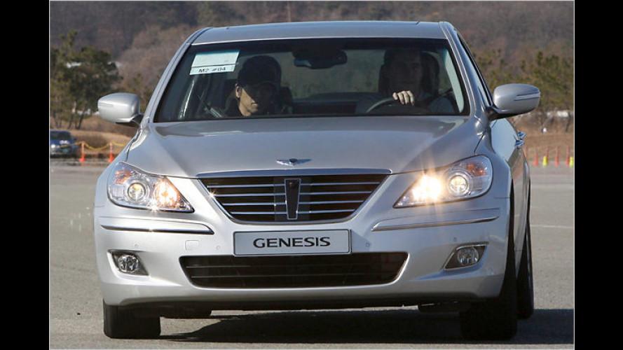 Hyundai Genesis: Achtzylinder-Aufstieg in die Oberklasse
