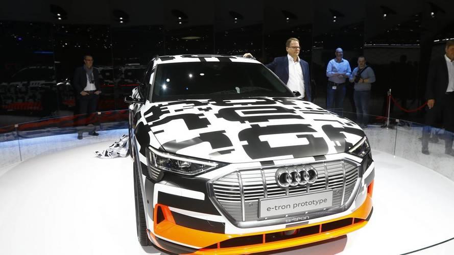 Audi E-Tron Prototype at the 2018 Geneva Motor Show