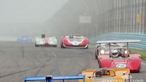 Can Am sprint race enters Turn 1 on a Foggy Watkins Glen