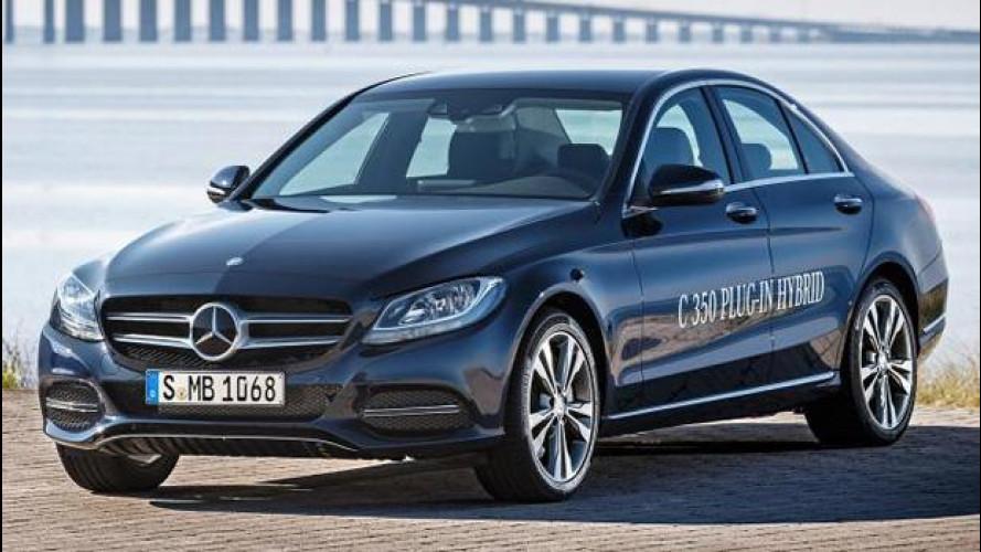 Mercedes C350e, l'ibrida plug-in da 275 CV