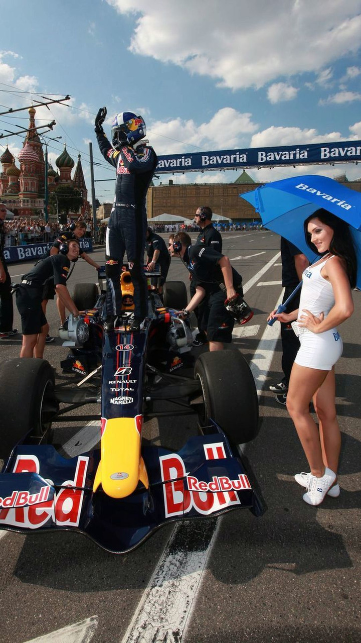 David Coulthard at Bavaria Moscow City Racing event