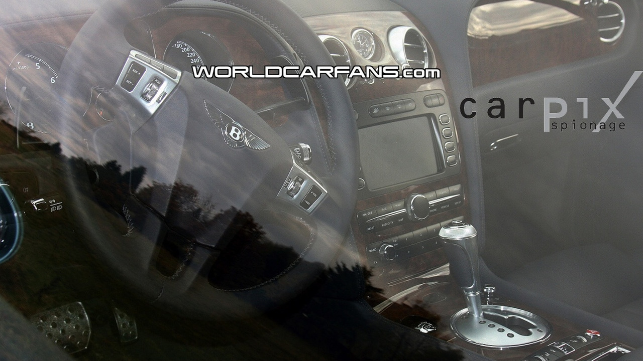 Bentley Continental GTC Speed Interior Spy Photo