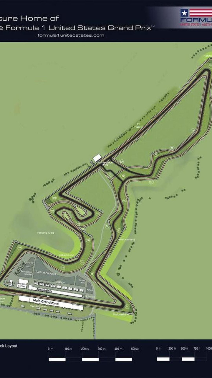United States grand prix track map, Austin, Texas, USA, 619, 01.09.2010